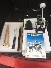 Free P&P. Drum Kit Bundle. Sticks, Mallets, Brushes Book Pedal Cowbell. DB910252