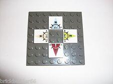 2 Sets de lego tuiles Nord Sud Est Ouest Boussole