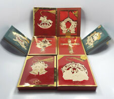 Lot of 8 Lenox Christmas Flat Annual Ornaments, with boxes