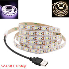 5050 USB LED Strip TV Backlight Bias Lighting For TV Desktop PC White/Warm White