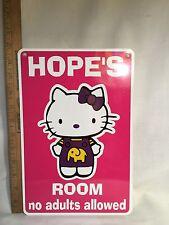 *Metal Hello Kitty  Hope's Room Kids Room Door 12
