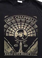 DAVE CHAPELLE NYC 2014 Radio City Music Hall Black T-Shirt Sz.M