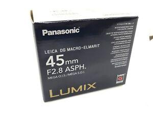 New PANASONIC LEICA DG MACRO ELMARIT 45mm F2.8 ASPH.MEGA. O.I.S. Lens (H-ES045)