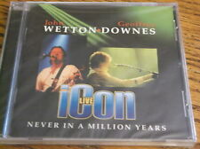 ICON LIVE, WETTON & DOWNES (NEW SEALED CD) ROCK