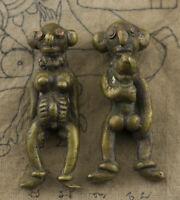 Amuleto Soprammobile Tailandese Khmer Ragazzo e Per Erotico Lingam Sex Fertilità