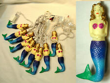 Vtg Colorful Mermaid String Lights
