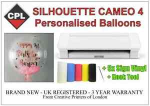 Silhouette Cameo 4 Plotter/Cutter. Apply Vinyl to Balloons, Signs, Windows Etc.