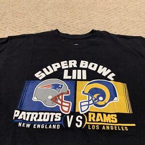 New England Patriots Los Angeles Rams Super Bowl LIII T Shirt NFL Mens Medium