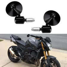 "Round 7/8"" Handle Bar End Motorcycle Side Mirrors For Yamaha Sport FZ8 FZ-07 09"