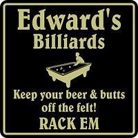Personalized Pool Room Billiards Bar Beer Pub Gift Sign #2 Custom USA Made