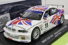 FLY A626 BMW 320i E-46 VALENCIA FIA ETCC 2004 NEW 1/32 SLOT CAR IN DISPLAY CASE