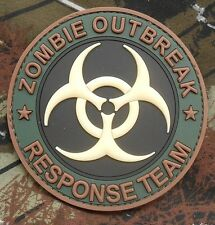 PVC GLOW ZOMBIE HUNTER OUTBREAK RESPONSE FOREST VELCRO® BRAND FASTENER PATCH