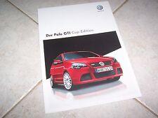 Prospectus / Brochure VOLKSWAGEN Polo GTI Cup Edition 2008 //