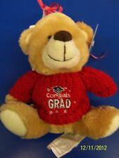 Grad Bear Balloon Bouquet Graduation Party Gift Stuffed Animal Teddy - Red