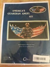Counted Cross Stitch Kit AMERICA'S GUARDIAN ANGEL Patriotic USA Enlisted Heros!