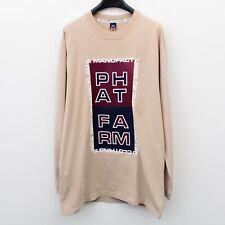 Phat Farm Herren M Langärmelig Freizeit T-Shirt Groß Aufdruck Hergestellt IN USA