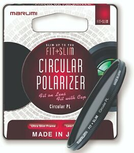 Marumi Fit and Slim Circular Polarizer Filter For Colour Saturation & Reflection