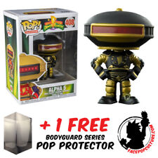FUNKO POP POWER RANGERS ALPHA 5 BLACK AND GOLD EXCLUSIVE + FREE POP PROTECTOR