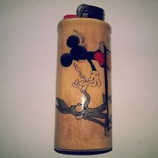 Bugs Bunny Mickey Mouse Joint Pass Bic Lighter Case Holder Sleeve Cover