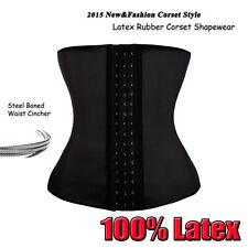 Latex Rubber Women Waist Trainer Cincher Underbust Corset Steel Bone Body Shaper