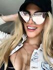 Cat Eye XXL GIRL Royalty Pink OVERSIZED Metal Mirrored Women Sunglasses ASTRO