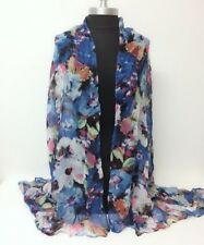 Women Lady Long Chiffon Scarf Soft Voile Print Scarves Shawl Wrap Beach Cover Up