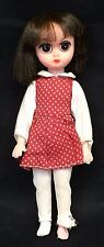 "Vintage Susie Sad Eyes 8"" Doll Big Eyed Original Dress Pre Blythe 60s TLC Flawed"