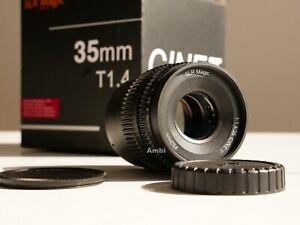 SLR Magic 35mm t1.4 Cine II Objektiv für Pana/BlackMagic/Oly Kameras mit MFT
