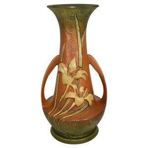 Vintage Roseville Pottery Zephyr Lily 1946 Brown Vase 140-12