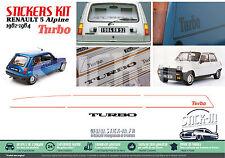 Set complet autocollants stickers Renault 5 Alpine Turbo 1982-1984 R5