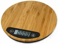 Bamboo Kitchen Scale, Food Scale, Slim Design, Eco-friendly, 11lb / 5kg Capacity