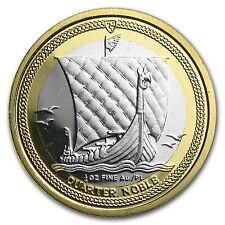 Isle of Man 1/4 oz Proof Bi-Metallic Gold/Platinum Noble (Random) - SKU #64573