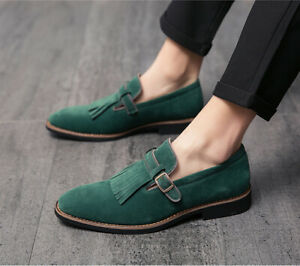 Mens Formal Dress Oxfords Fashion Shoes Pu Leather Pointed Toe Slip On Loafers