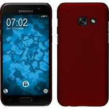 Hardcase Samsung Galaxy A3 2017 rubberized red Cover + protective foils