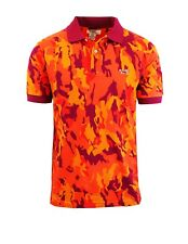 Mens Camo Printed Polo Shirts Lounge Color Short Sleeve Red Blue M L XL XXL