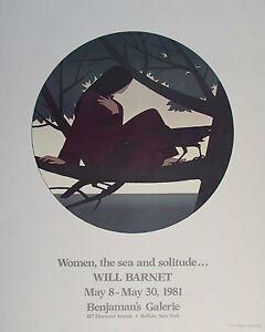 Will Barnet Poster Women, the Sea and Solitude 1981