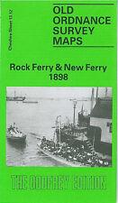 OLD ORDNANCE SURVEY MAP ROCK FERRY NEW FERRY BEBINGTON WOODHEY THE DELL 1898