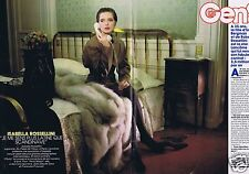 Coupure de presse Clipping 1988 Isabella Rossellini  (4 pages)