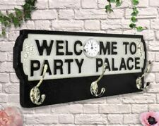 RETRO WOOD ANTIQUE STYLE CLOCK AND COAT RACK-   PARTY PALACE