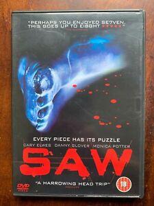 Saw DVD 2004 Original Horreur Thriller Classique Film Largeur / Danny Glover