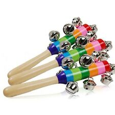 for Baby's 10-bell Jingle Rainbow Shaker Stick Musical Instrument Toy JJ