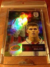 2004 eTopps England Steven Gerrard Refractor Card In Hand Sealed 1 Of 1342