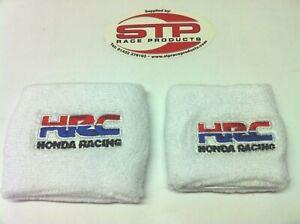 Honda Racing Motorcycle Front & Rear Brake Reservoir Shrouds Socks Cover White