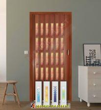 Porta a soffietto in pvc Vari colori COMPLETA DI VETRINI DECORATI - Prezzo al mq