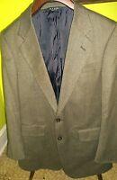 EXC Mens Jos A. Bank Blazer Jacket Made in USA Wool Herringbone Tweed Brown 40R
