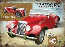 15x20cm MG Midget T series classic sports car metal advertising wall sign