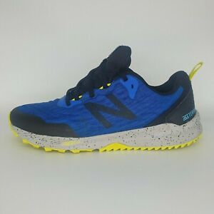 New Balance Men's Nitrel Trail Running Shoes UK 9 Width D Blue Black Yellow New