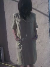 superbe robe chemise dégriffée vert anis T M 38 40 ( mesures) tbe  Caroll