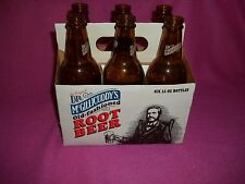 DR. MCGILLICUDDY'S SIX PACK ROOT BEER BOTTLES WITH CARRIER  EMPTY