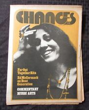 1971 Chances v.3 #6 Music Culture Newspaper Vg Rita Coolidge Pink Floyd